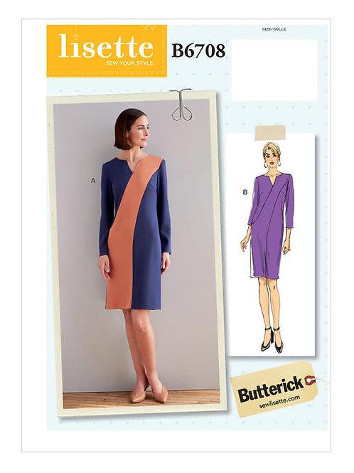 Butterick B6708 schmales Kleid