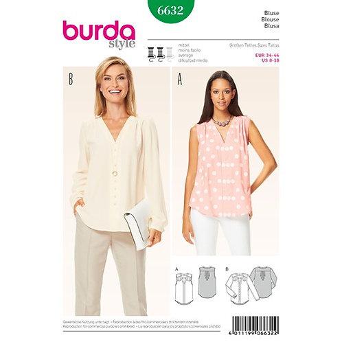 Burda 6632 trendige Bluse