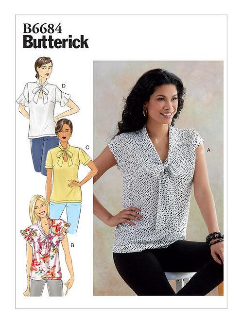 Butterick B6684 Bluse mit Varianten