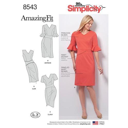Simplicity 8543 Etuikleid