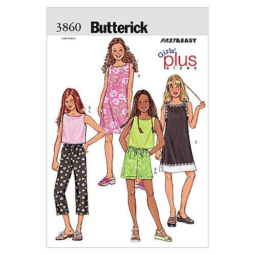 Butterick B3860 Kleid, Top & Hose