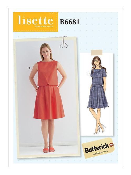 Butterick B6681 sommerliches Kleid by Lisette