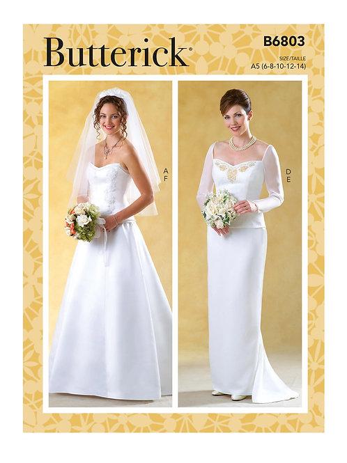 Butterick B6803 Hochzeitskleid