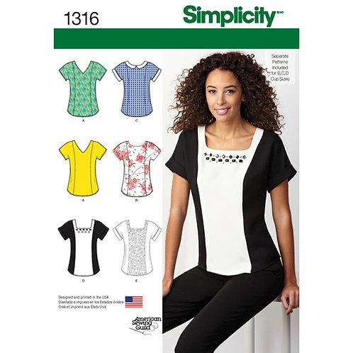 Simplicity 1316 Tops