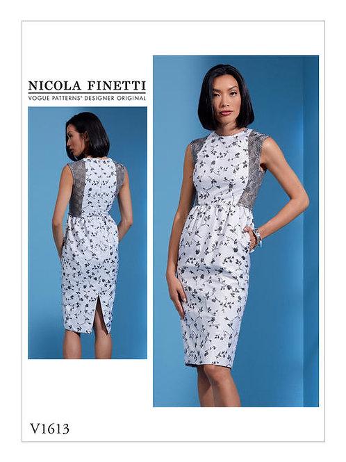 Vogue V1626  tailliertes Designerkleid by Nicola Finetti
