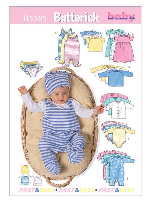 Butterick B5585 Babyausstattung