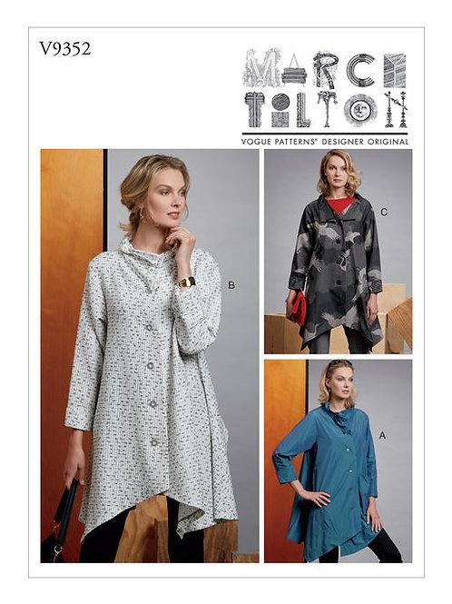 Vogue V9352 lockerer Designermantel by Marcy Tilton