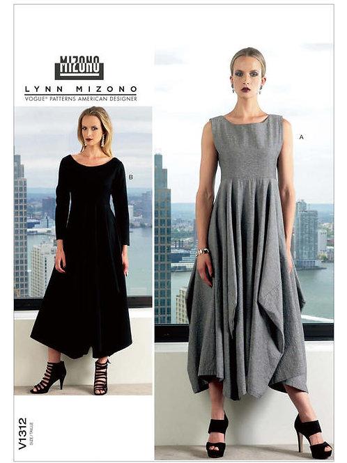 Vogue V1312 ausgestelltes Kleid by Lynn Mizono