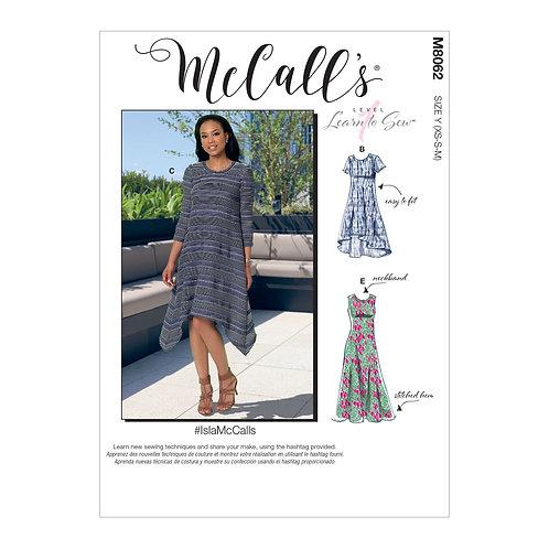 McCall`s M8062 Jersey-Kleid