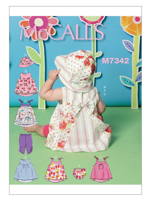 McCall`s M7342 Baby-Sommer-Kombi