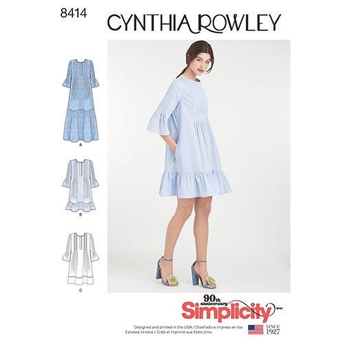 Simplicity 8414 kurzes Kleid