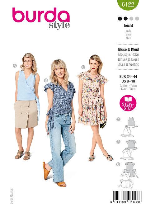 Burda 6122 Wickelkleid oder Shirt