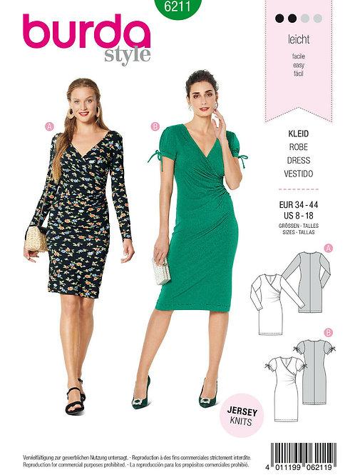 Burda 6211 Jersey-Kleid mit Varianten