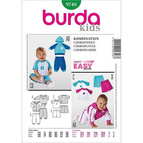 Burda 9748 Kleinkindkombination
