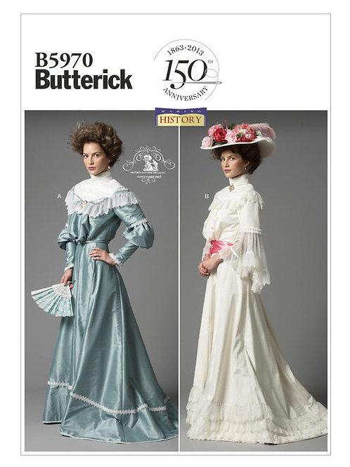 Butterick B5970 Bluse & Rock 1900 Jahrhundert