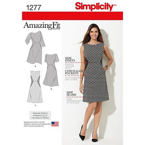 Simplicity 1277 Taillenkleid