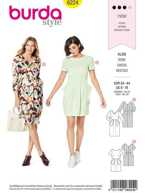 Burda 6224 Kleid mit großen Taschen