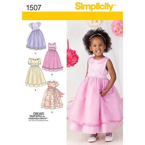 Simplicity 1507 Kinderkleid für besondere Anlässe