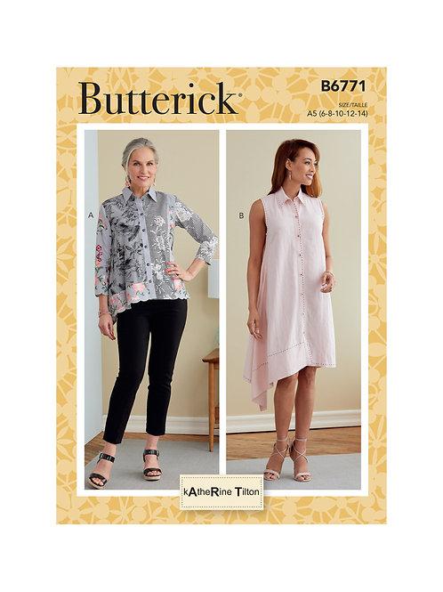 Butterick B6771 Kleid oder Bluse