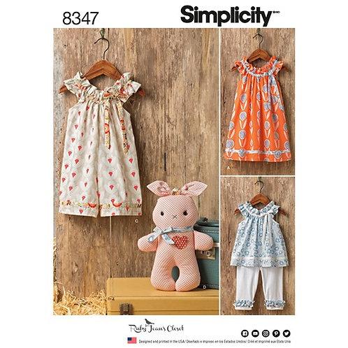 Simplicity 8347 Kleinkinder Ausstattung
