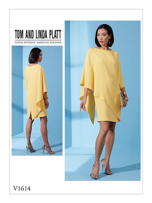 Vogue V1614 asymmetrisches Abendkleid by Tom & Linda Platt