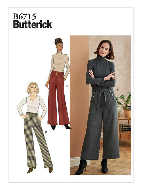 Butterick B6715 Damenhose mit Gürtel