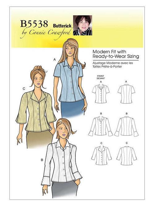 Butterick B5538 Kragenbluse by Connie Crawford