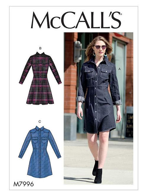 McCall's tailliertes Hemdblusenkleid