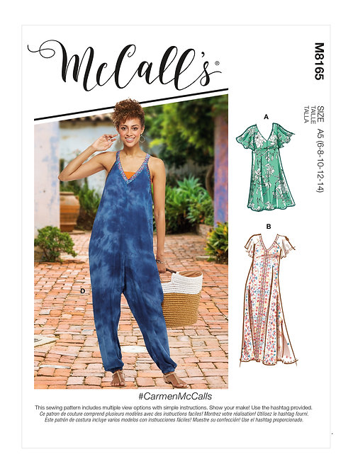 McCall's 8165 lockeres Kleid & Overall
