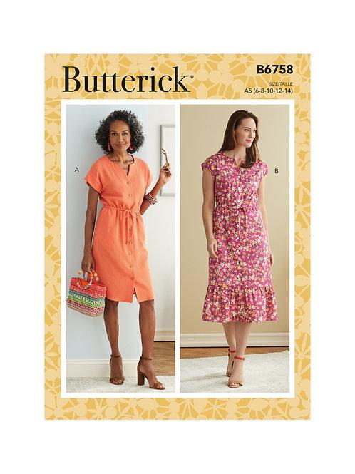 Butterick B6758 Kleid