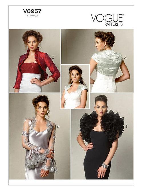 Vogue V8957 exclusive Boleros