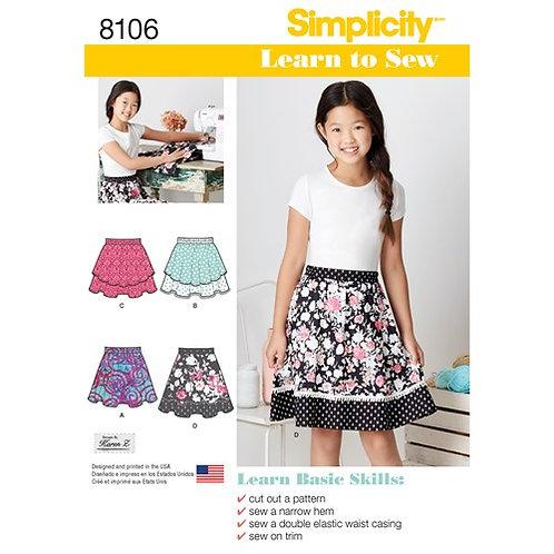 Simplicity 8106 Mädchenrock