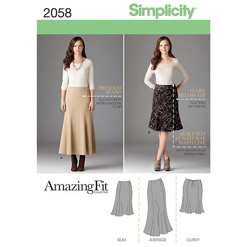Simplicity 2058 Godet - Rock