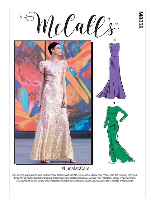 McCall`s M8038 festliches Kleid