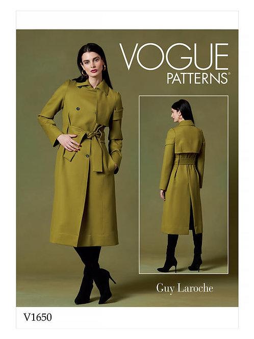 Vogue V1650 Mantel mit Gürtel by Guy Laroche