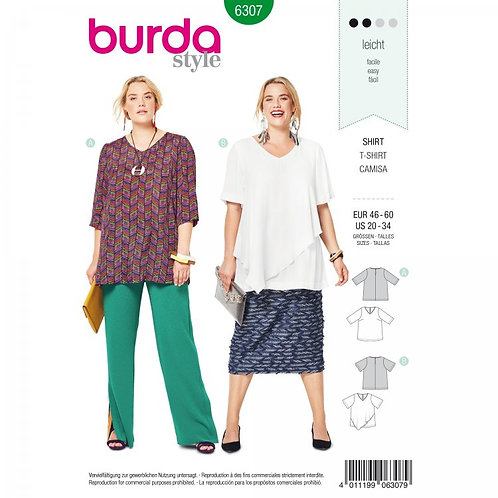Burda 6307 lockeres Shirt