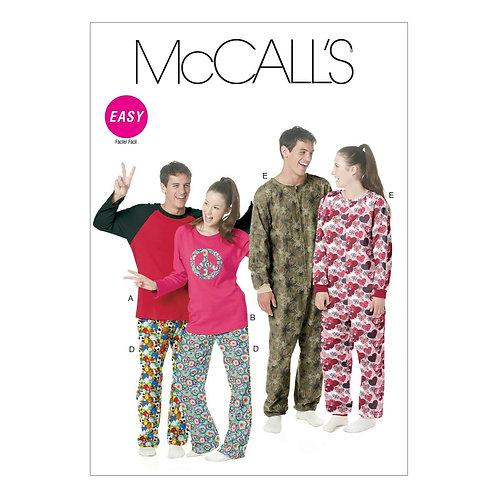 McCall`s M6251 Schlaf-Overall-anzug für Sie/Ihn