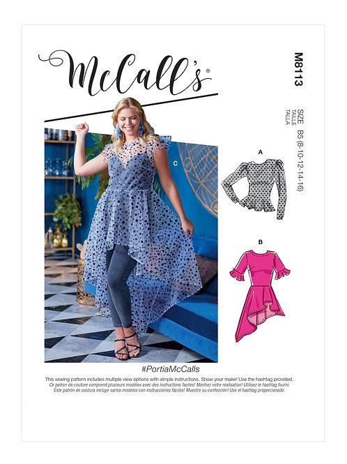McCall's 8113 Bluse mit Schößchen