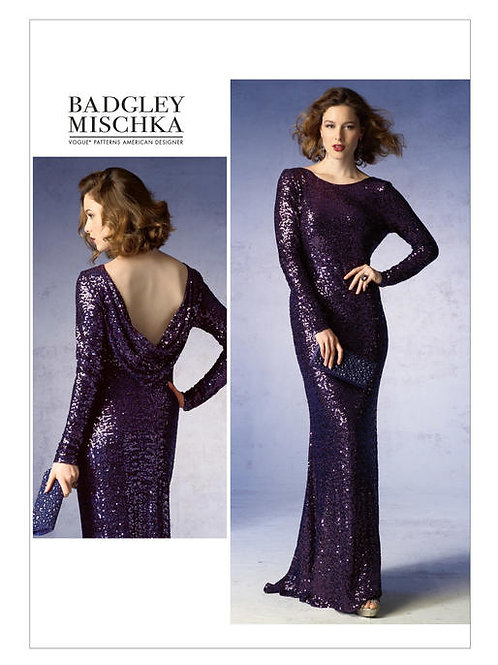 Vogue V1374 bodenlanges Ballkleid by Badgley Mischka