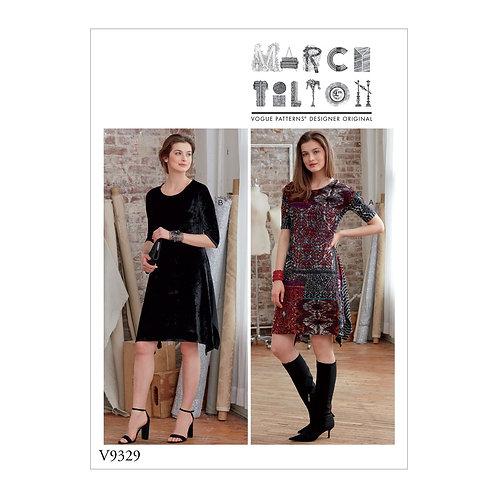 Vogue V9329  Jerseykleid by Marcy Tilton