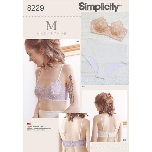 Simplicity 8229 Bügel-BH und Höschchen