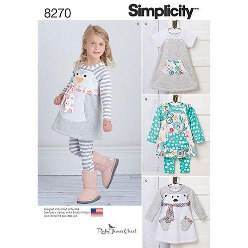 Simplicity 8270 Sportswear für Kleinkinder