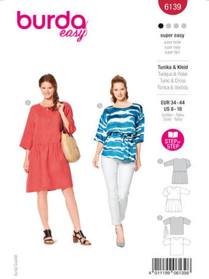 Burda 6139 Bluse oder Kleid