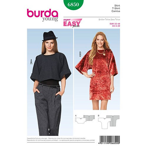 Burda 6850 Shirtkleid & Shirt