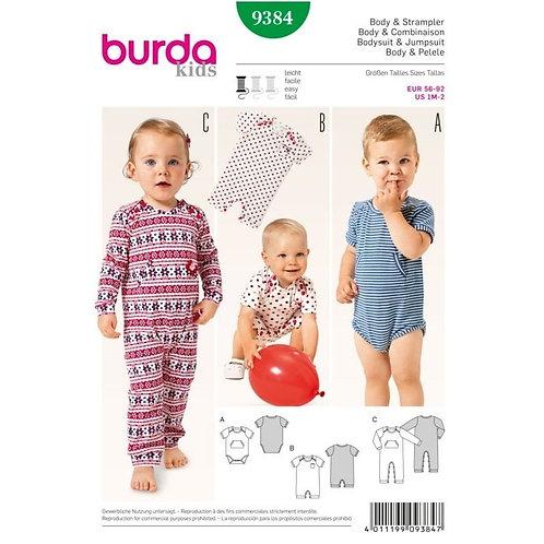 Burda 9384 süße Bodys & Strampler