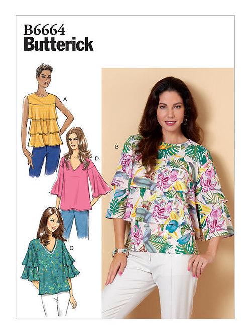 Butterick B6664 Stufenbluse