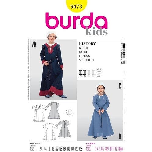 Burda 9473 historisches Kleid
