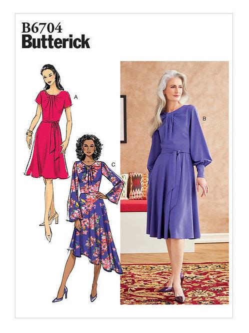 Butterick B6704 tailliertes Kleid