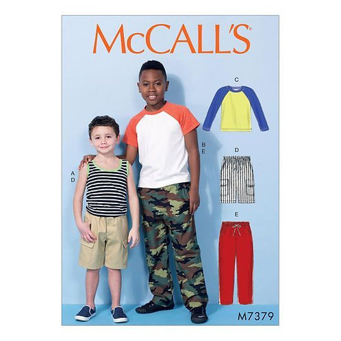 McCall`s M7379 Knaben-Hose und Shirt