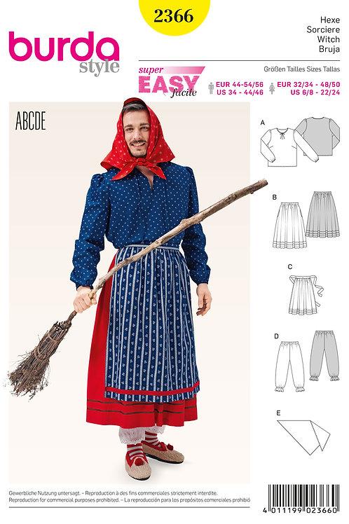 Burda 2366 Hexen - Kostüm für Sie & Ihn